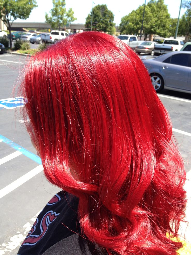 Bright red hair. Hair by Sumer Wade | Bright red and curly ...
