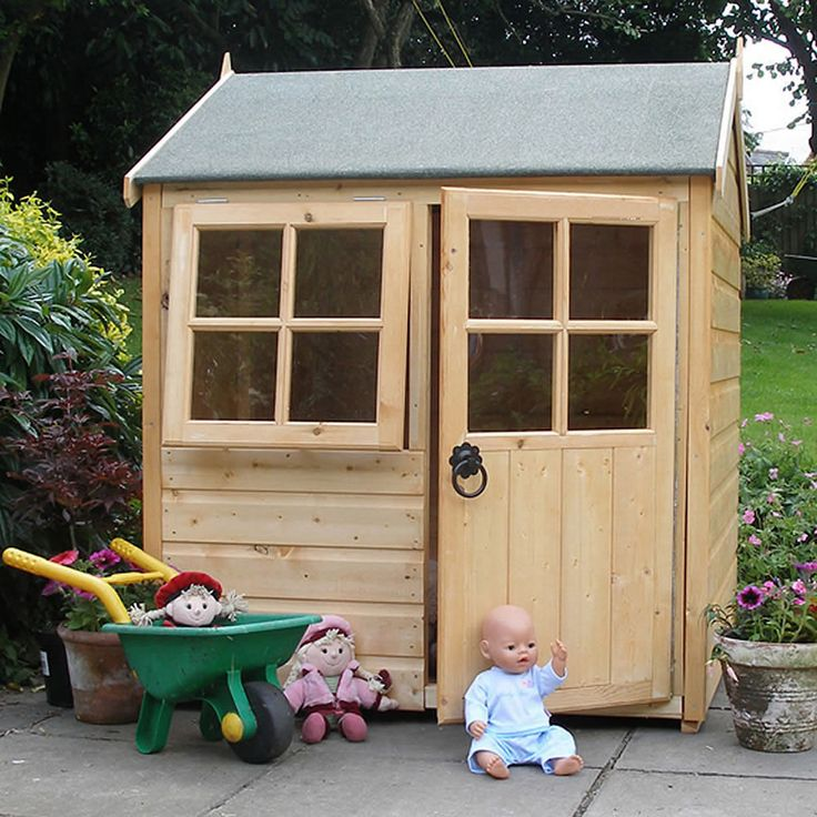 If I'm having a shed, then it's only fair if baby gets a play space in the garden, too! Perhaps painted in the same shade as the shed?