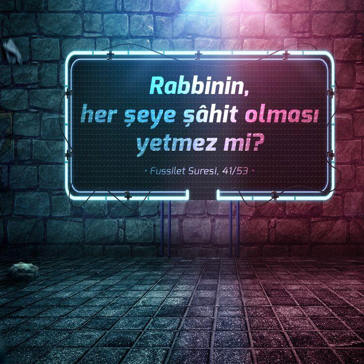 Rabbinin, her şeye şâhit olması yetmez mi? • Fussilet Suresi, 41/53 •