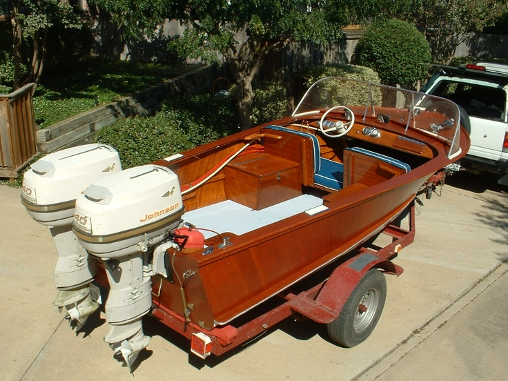 Twin engines; perfect | runabout | Outboard boat motors, Classic wooden boats, Runabout boat