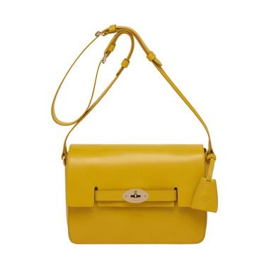 Bayswater Shoulder in Golden Yellow Shiny Goat | Women's Bags | Mulberry