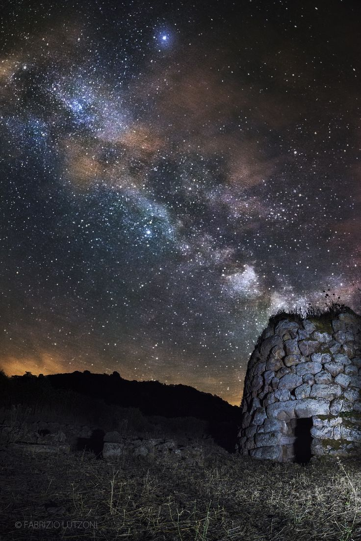 Nuraghe under the stars by Fabrizio Lutzoni