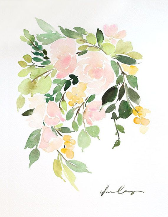 Floral in Peach I for Minted — Yao Cheng Design
