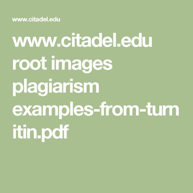 www.citadel.edu root images plagiarism examples-from-turnitin.pdf