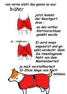 Do it yourself Hundemantel .                                                                                                                                                                                 Mehr