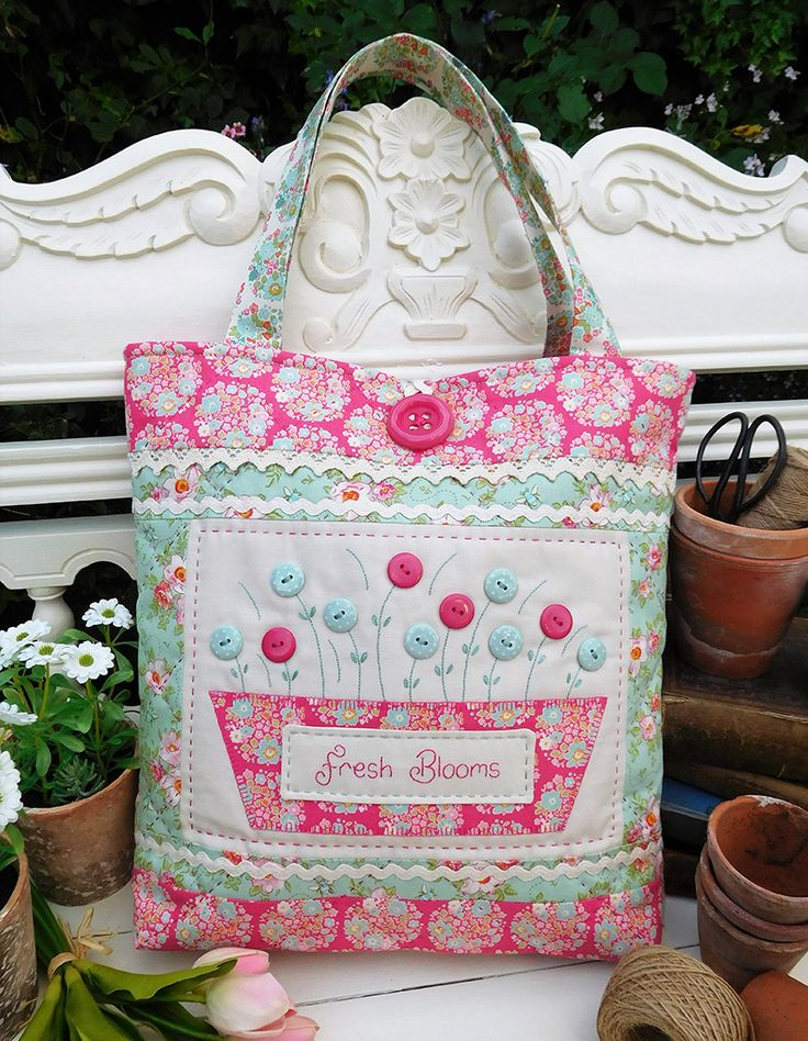 Fresh Blooms by Sally Giblin of The Rivendale Collection. www.therivendalecollection.com.au Stitchery, appliqué and patchwork patterns. #TheRivendaleCollection