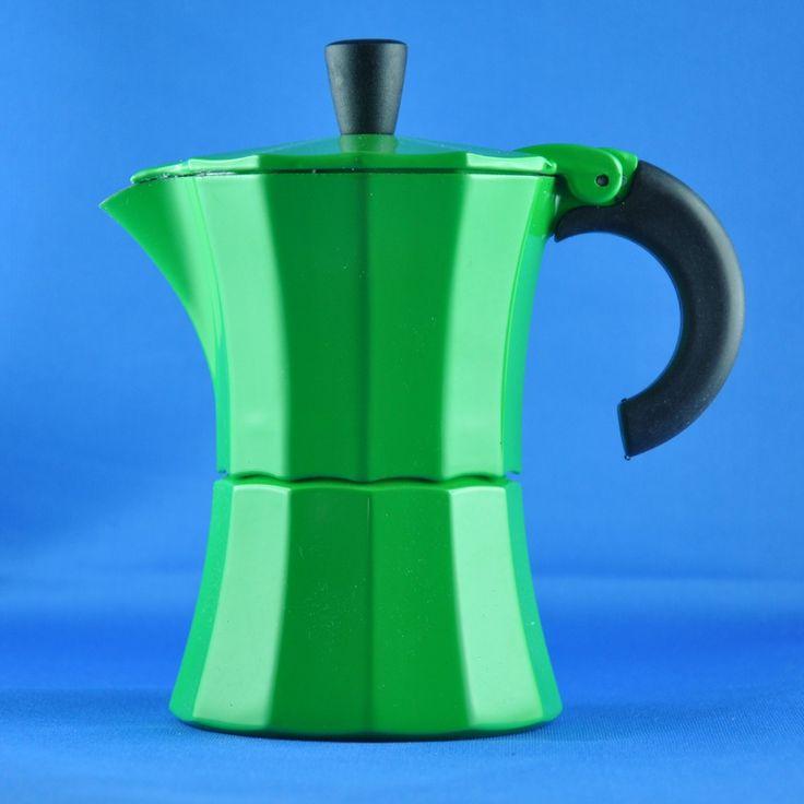 "GNALI & ZANI""MOROSINA COFFEE MAKER 3 TASSEN GRÜN"" | Buy @ inhoma24.de #Inhoma #Kuchen #Dekoration #Küchenaccessoires"