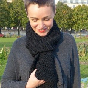 Kit tricot by WoolKiss : Écharpe facile à tricoter