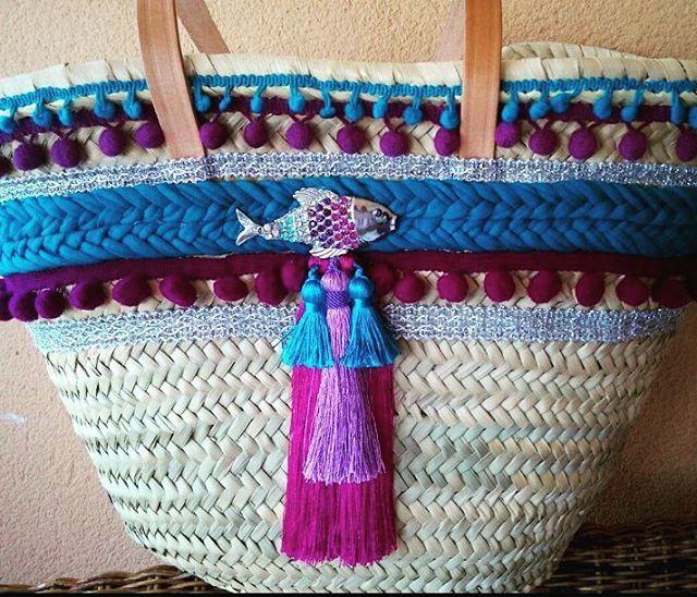 Capazos decorados, hechos a mano Bdebelen www.ibizadiscover.com