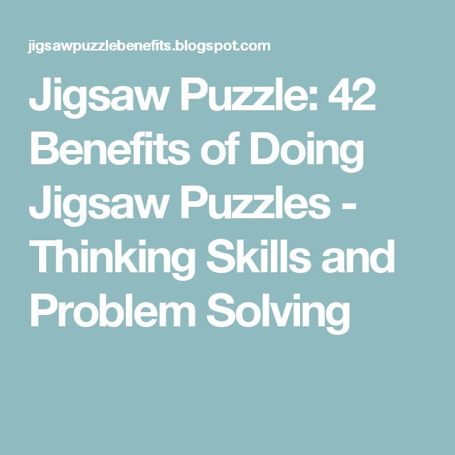 Jigsaw Puzzle  Benefits Of Doing Jigsaw Puzzles  Thinking