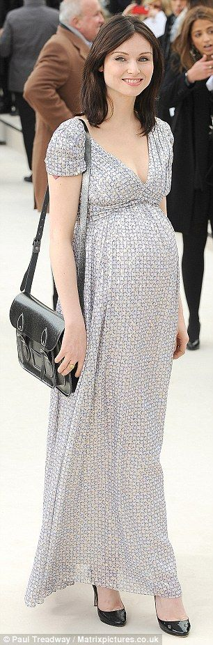 Third time's a charm: Sophie Ellis Bextor pregnant with her third son, Ray Holiday, the only baby with whom she did not experience pre-eclampsia, in February 2012