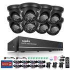 SANNCE 5in1 1080P HDMI 8CH DVR 1500TVL 720P IR CCTV Security Camera System 1TB