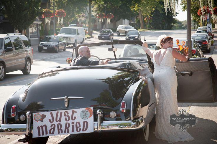 antique cars wedding photography