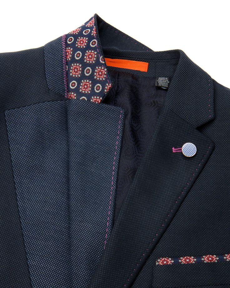 Textured blazer - Navy | Blazers | Ted Baker