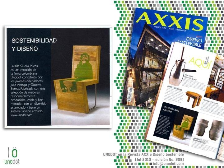 1ra Publicación Unodot en Revista AXXIS - Edición Diseño Sostenible (julio 2010)