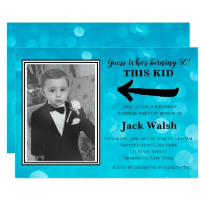 Old Photo Surprise Birthday Party Invitations - birthday invitations diy customize personalize card party gift