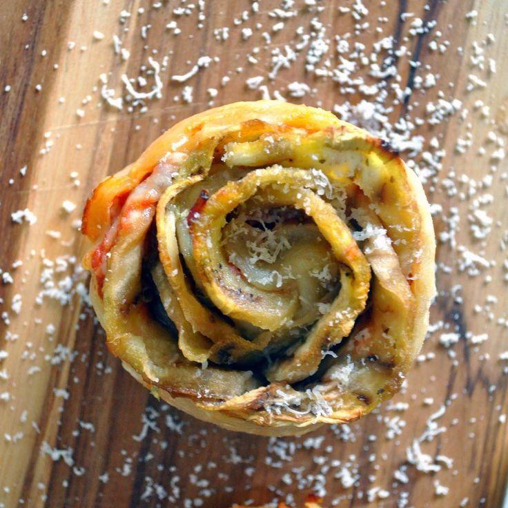 Cooking with Manuela: Rose Shaped Eggplant Parmigiana