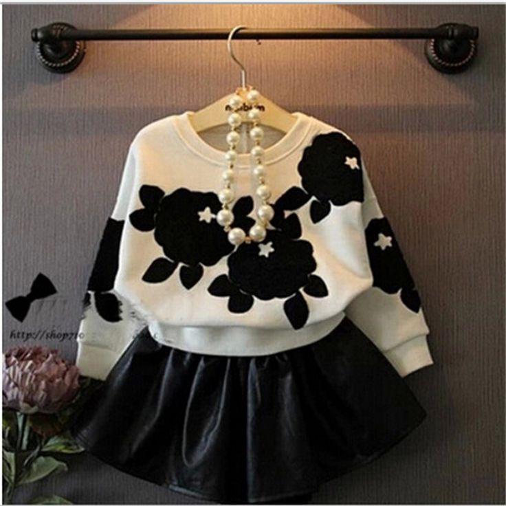 $21.75 (Buy here: https://alitems.com/g/1e8d114494ebda23ff8b16525dc3e8/?i=5&ulp=https%3A%2F%2Fwww.aliexpress.com%2Fitem%2FKids-Tracksuit-Flowers-Black-White-Fashion-Girls-Boutique-Clothing-Skirt-Printing-Toddler-Girl-Clothing-Kids-New%2F32436459622.html ) Kids Tracksuit Flowers Black White Fashion Girls Boutique Clothing Skirt Printing Toddler Girl Clothing Kids New Tracksuit for just $21.75