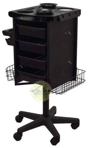Metal salon spa storage cart trolley beauty hairdresser for Salon trolley