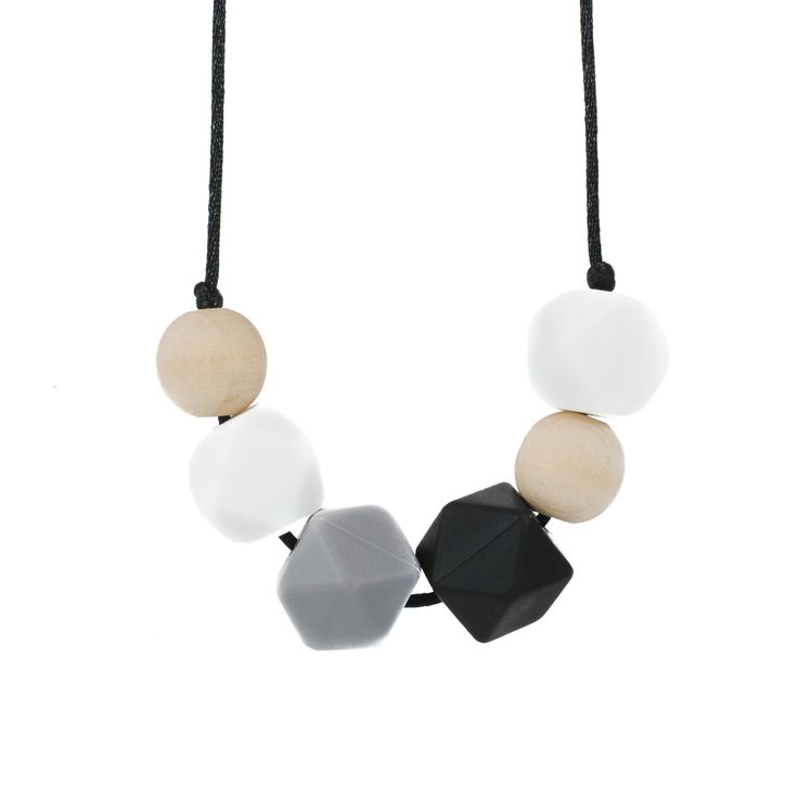 Brooklyn Geometric Silicone Teething Necklace by Glitter & Spice