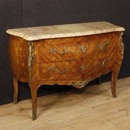 2100€ French inlaid dresser in Louis XV style with marble top. Visit our website www.parino.it #antiques #antiquariato #furniture #inlay #antiquities #antiquario #comò #commode #dresser #chest #drawer #decorative #interiordesign #homedecoration #antiqueshop #antiquestore #inlaid #marble #louisXV #style