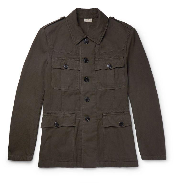 Dries Van Noten - Baez Slim-Fit Cotton and Linen-Blend Field Jacket