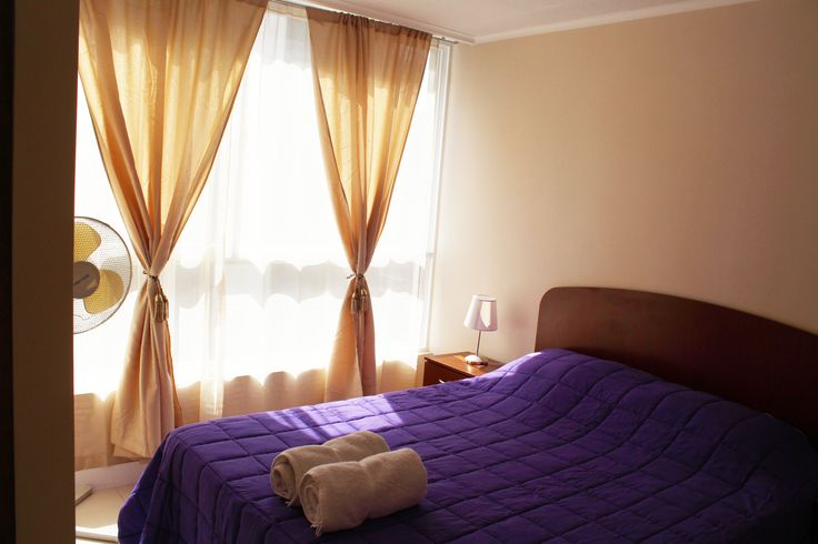 master bedroom of the apartment we rent in Santiago de Chile www.internshipandtravel.cl o mail a info@internshipandtravel.cl