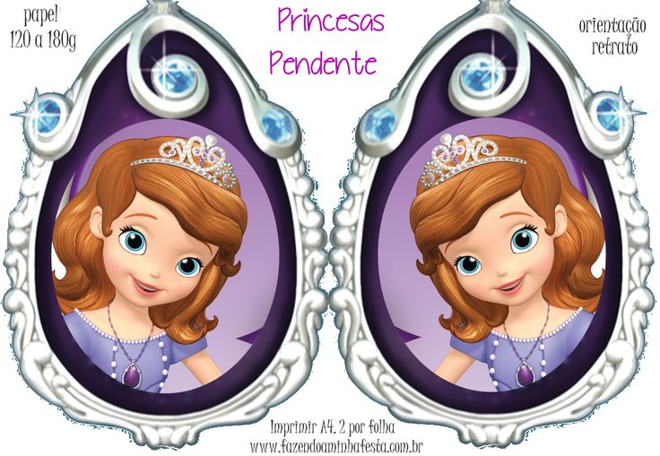 Molde Pendente Princesas - Princesinha Sofia
