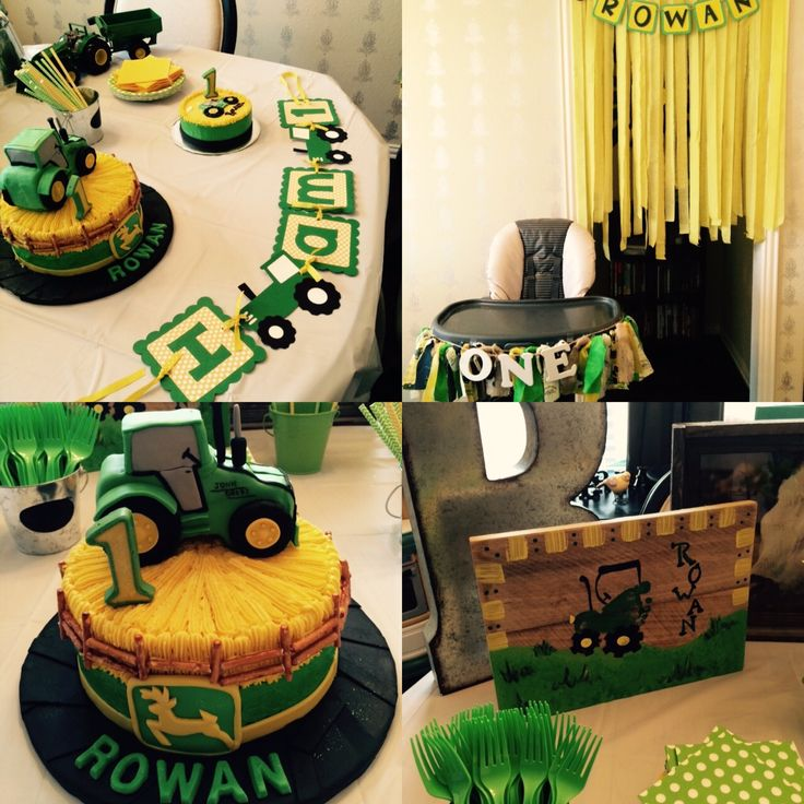 John Deere tractor first birthday party