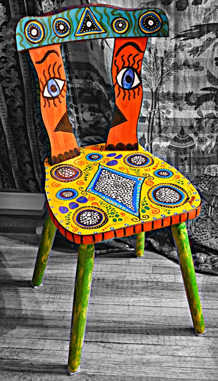 Hand Painted Colorful Furniture By Ally White