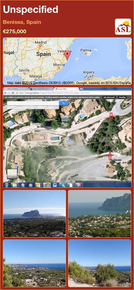 Unspecified in Benissa, Spain ►€275,000 #PropertyForSaleInSpain