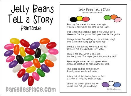 Jelly Beans Tell A Story Free Printable For Easter Sunday From Www