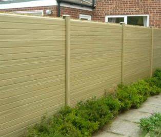 Composite Material Fence For Sale Premade Wpc Fence Panel