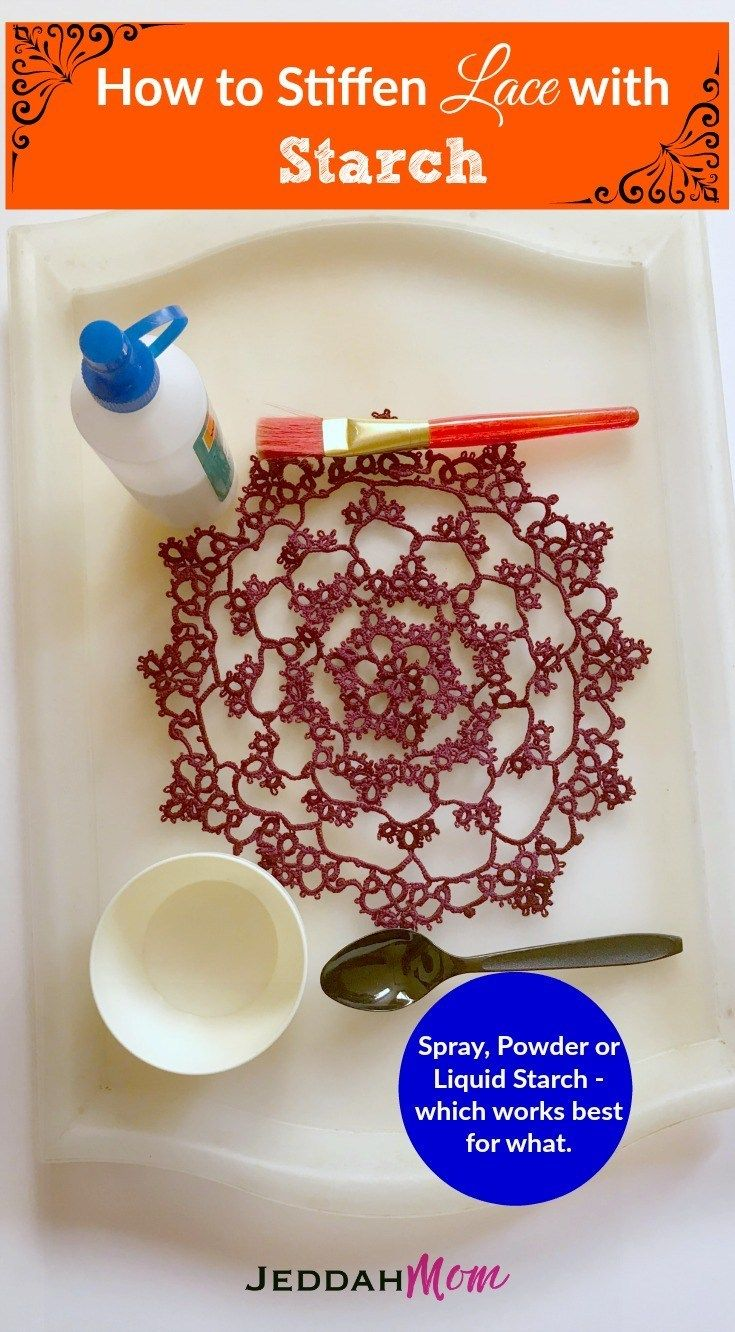 How to Stiffen Lace with Starch | Fabric stiffener, Lace ...