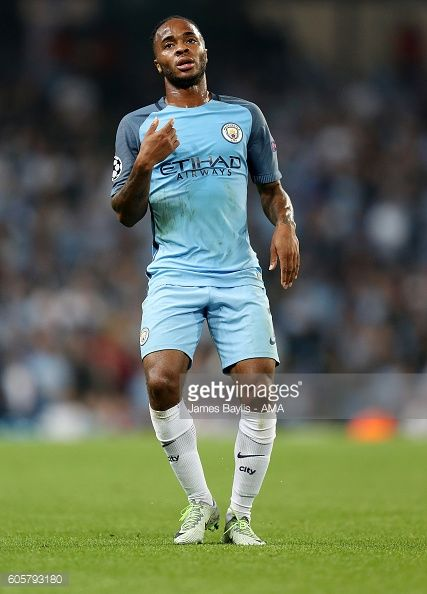 Raheem Sterling of Manchester City during the UEFA Champions League match between Manchester City and VfL Borussia Moenchengladbach at Etihad Stadium...