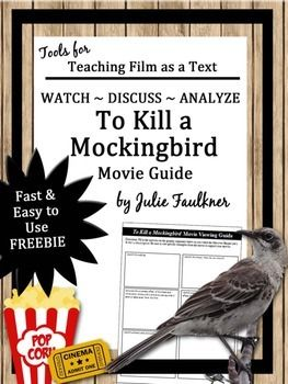 To Kill a Mockingbird Movie Guide, End of Year, Sub Plans, Evaluate Media FREEThis graphic organizer allows you to review specific skills as you view the movie of this classic work or if you are viewing the film as a text. It is NOT a book to movie comparison, nor is it is a list of comprehension questions over the movie.