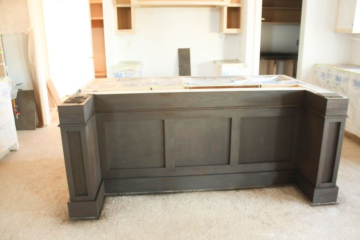 How to support kitchen island overhang google search for Granite overhang without support