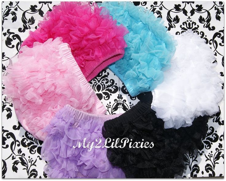 SALE- Chiffon Ruffle Bum Baby Bloomer Diaper Cover -Photo Prop- 20 GREAT COLORS to choose from- My2lilPixies. $8.75, via Etsy.