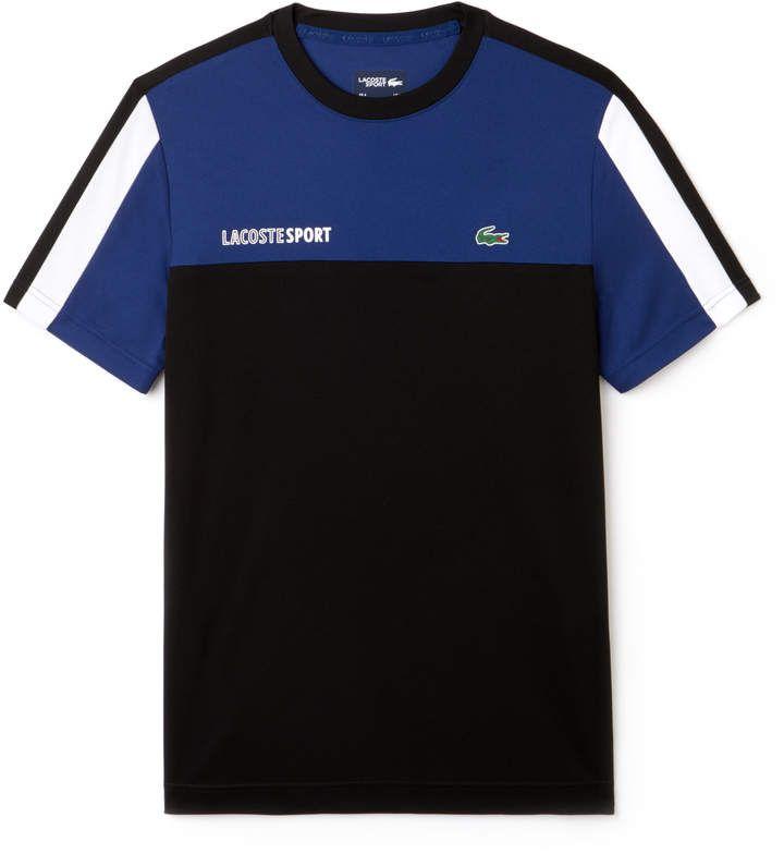 Lacoste Men S Sport Crew Neck Colorblock Pique Tennis T Shirt Tee Shirt Fashion Mens Tshirts Mens Activewear