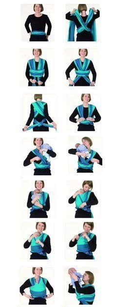 Mode d'emploi d'une écharpe de portage - Jolilola