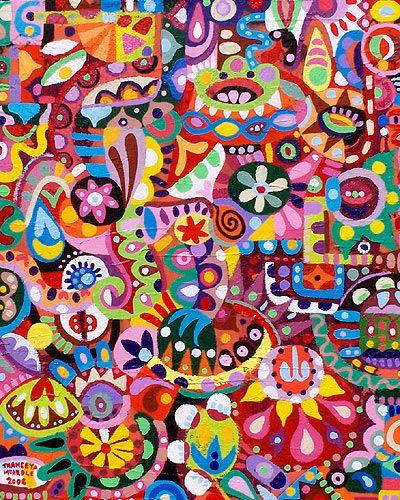 Very nice acrylic abstractMcardle 2006, Theenya Mcardle, Thaneeya Mcardle, Mcardle Whimsical