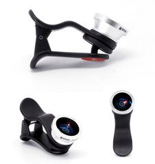 With its handy, laundry pinch clasp, Gizmon lenses fit easily onto many kinds of devices. The Smart clip is the only clip which has an adaptive stabilizer pad to fit various surface angles & keeps the lens horizontal. The lens can be unscrewed from the clip to be attached to your existing ICA iPhone case.   There are 6 unique lens available with each lens sold separately – Center Focus lens, Cross Screen filter, Fisheye lens, Circular Polarizer lens, Macro lens, Three Image Mirage filte