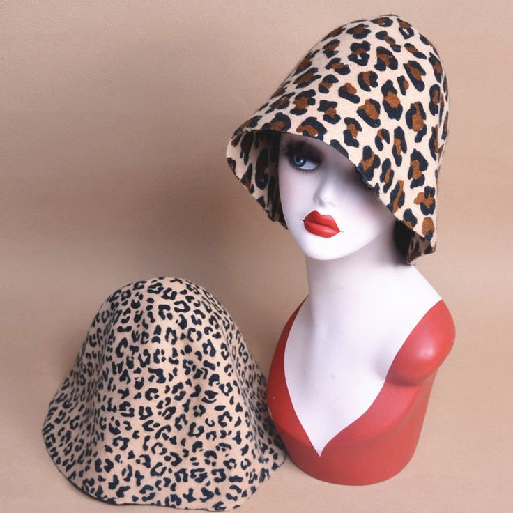 Leopard Felt Body Wool Cone Cloche Hood Millinery Hats Block Base B088