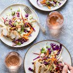 Coleslaw Salad with Grilled Chicken