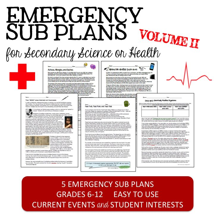 set of 5 emergency sub plans that brush up those science skills and relate to interesting. Black Bedroom Furniture Sets. Home Design Ideas