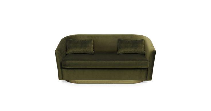 EARTH | Velvet Sofa Modern Design by BRABBU