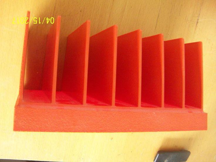 Vintage Rogers Orange Plastic Letter Sorter Mail Tray Holder Organizer Mod Op