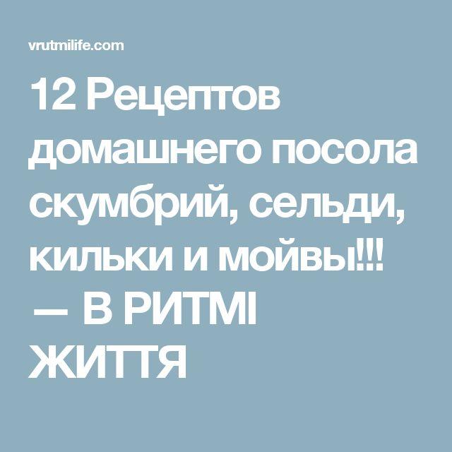 12 Рецептов домашнего посола скумбрий, сельди, кильки и мойвы!!! — В РИТМІ ЖИТТЯ