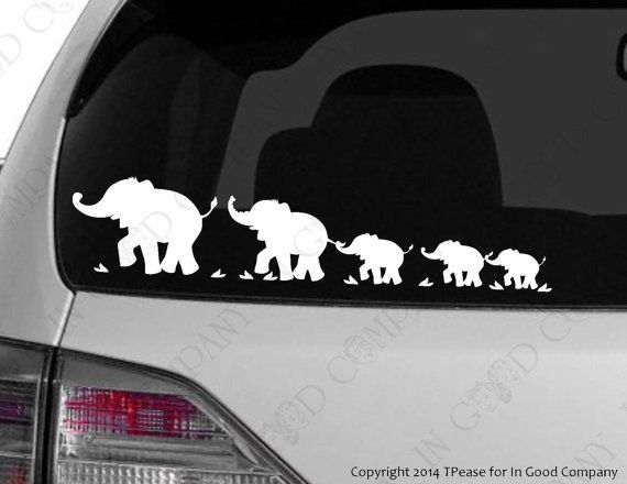 Personalized Elephant Parade Family Sticker by InGoodCompanyLtd