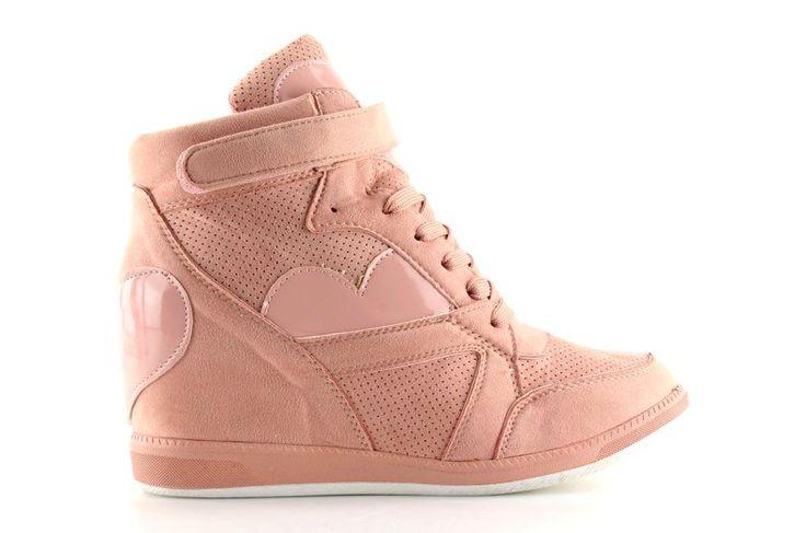 #Pozostałe #Sportowe #Damskie #ObuwieDamskie #Sneakersy #Damskie #Różowe #1542 #Pink #Obuwie #Damskie